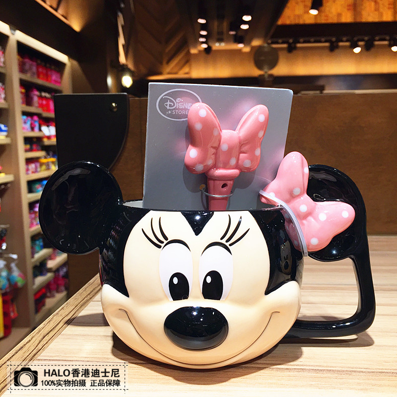 Disney Ceramic Cup 2019 Kids Bottle Drinking Cup 3D Cartoon Home Water Cup Cute Milk Coffee Cup