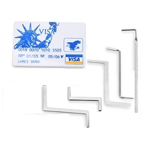 Lock-Pick-Set Tension James-Card Multifunction Metal for 5pcs Row