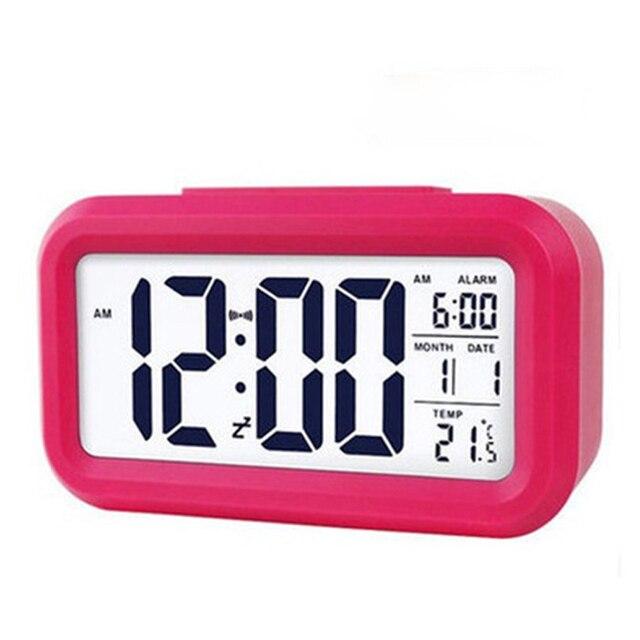 Hot sale LED Digital Alarm Clock Backlight Snooze Mute Calendar Desktop Electronic Bcaklight Table clocks Desktop clock 4