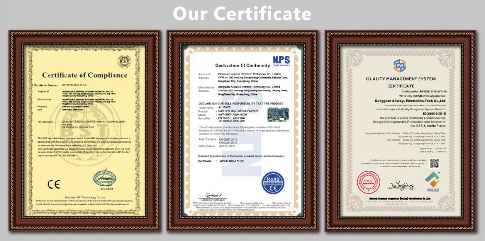 Our Certificate Image
