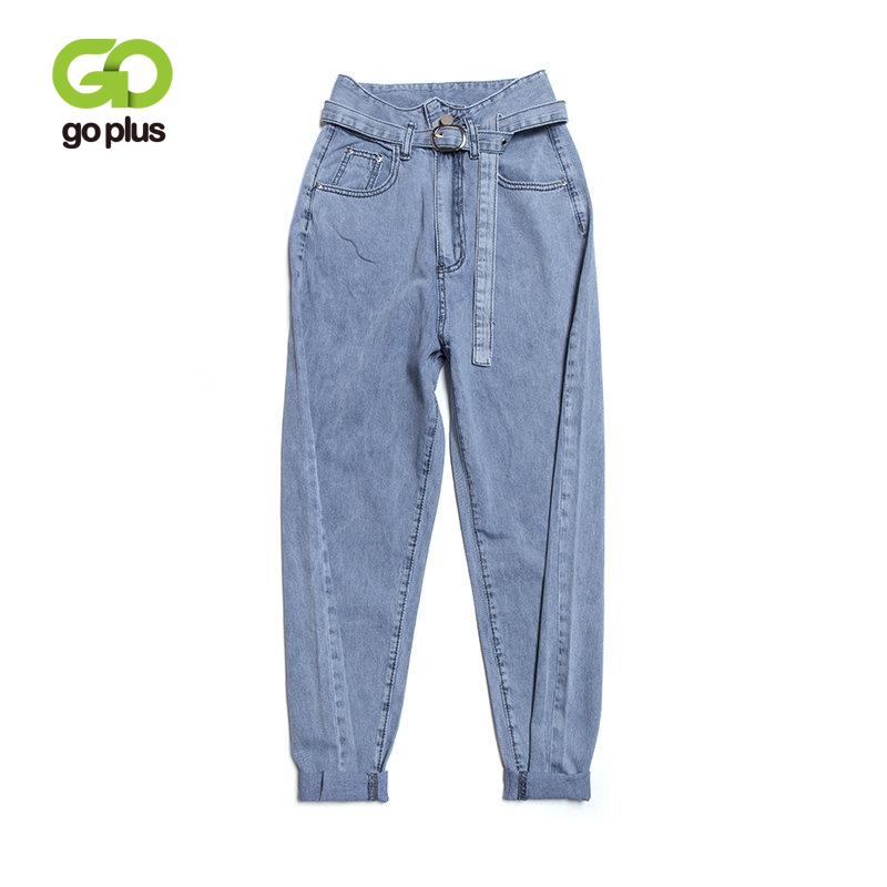 GOPLUS New Women Jeans Large Size Boyfriends With High Waist Harem Denim Pants Mom Jeans Jean Taille Haute Femme Spodnie Damskie