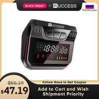 Nuevo Detector de radares de policía de Ruccess para Rusia, Detector de radares de banda láser de velocidad GPS 2 en 1, Anti Radar de GPS para Auto 360 X LA CT L