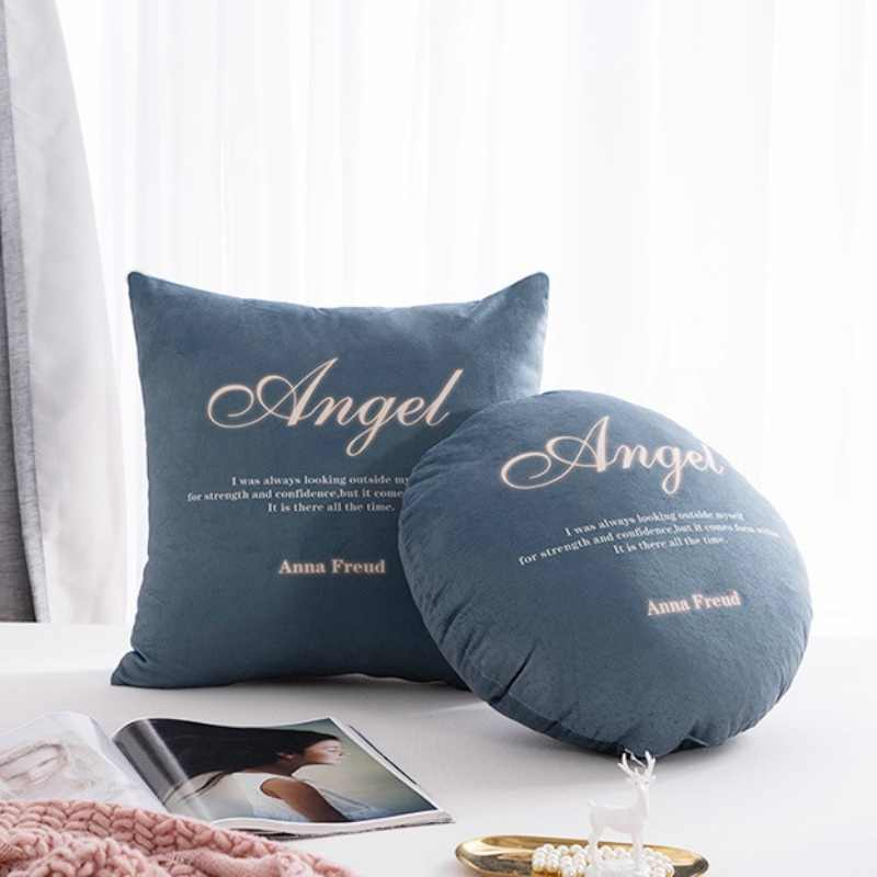 Household Decorative Soft Round Throw Pillows Square Pillow Home Sofa Chair Filled Cushion Soft Bed Car Decorative Pillows Decorative Pillows Aliexpress