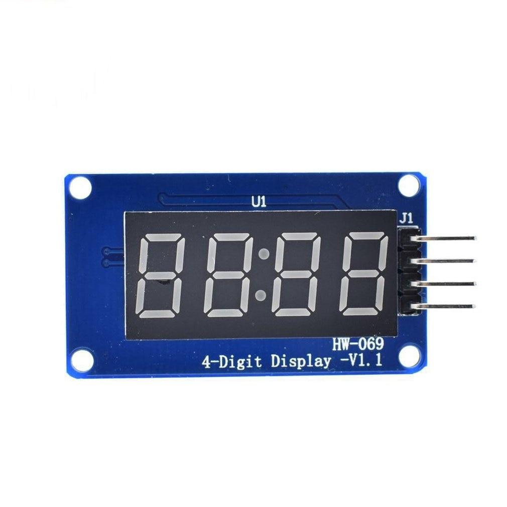 4-Digit Digital Tube Display Module Led Brightness Adjustable Module With Clock Point Accessory Building Block Module