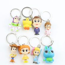 8pcs/set Toy Story 4 Keychain 3-5cm  And Figure Action Woody Buzz lightyear Jessie Ken Rex Mini Toys Christmas gifts