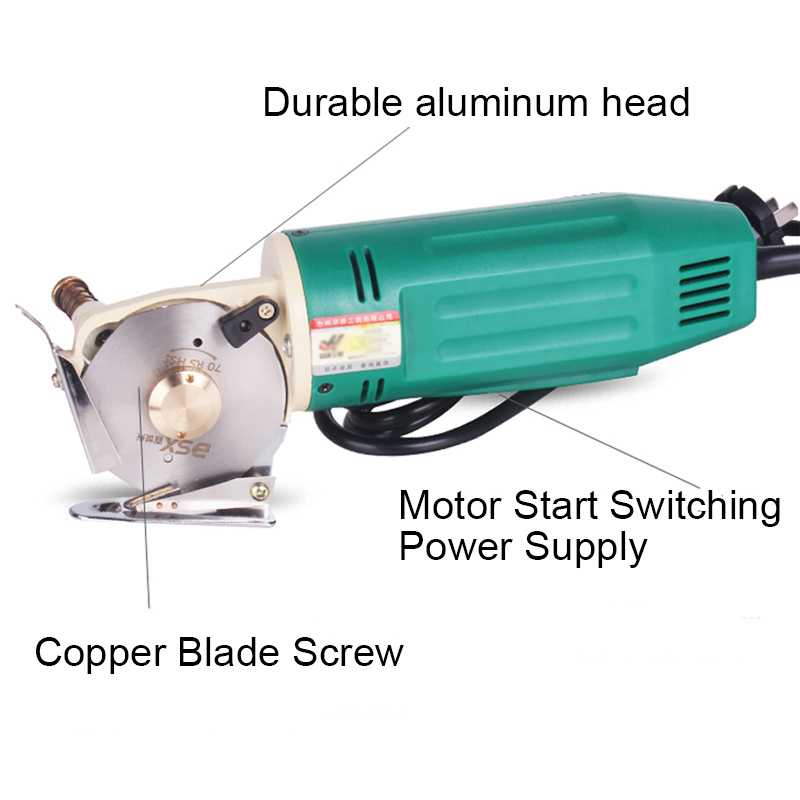 Tools : Electric tailoring scissors 220V 110V  Fabric Cutting Tools Leather Cloth Electric Cutter Machine Blade Power Tools Cutting Saws