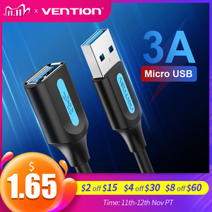 Image 1 - Vention تمديدات كابلات USB 3.0 ذكر إلى أنثى كابل يو اس بي موسع بيانات الحبل لأجهزة الكمبيوتر المحمول التلفزيون الذكي PS4 Xbox One SSD USB إلى USB