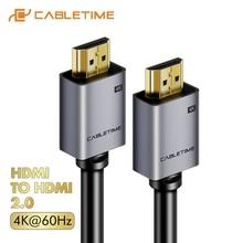 CABLETIME HDMI כבל 2.0 2.1 8K 4K 60Hz HDMI ל HDMI כבל עבור PS4 הטלוויזיה 4K ספליטר מתג תיבת Extender וידאו Cabo כבל HD C248