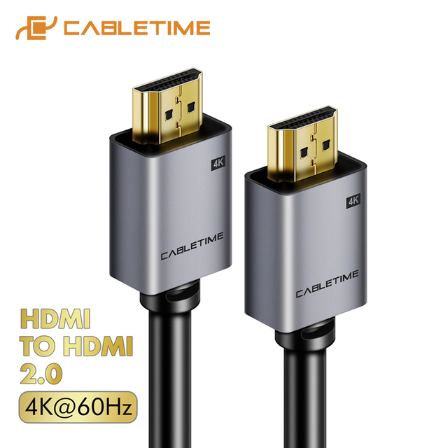 CABLETIME HDMI Cable 2.0 2.1 8K 4K 60Hz HDMI to HDMI Cord for PS4 TV 4K Splitter Switch Box Extender Video Cabo Cable HD C248