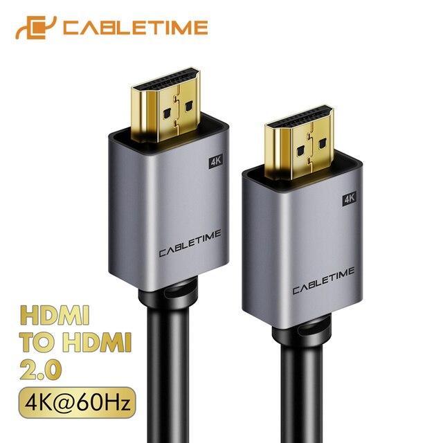 Кабель HDMI CABLETIME 2,0 2,1 8K 4K 60Hz HDMI к HDMI шнур для PS4 TV 4K сплиттер переключатель коробка удлинитель видео кабель Кабо HD C248