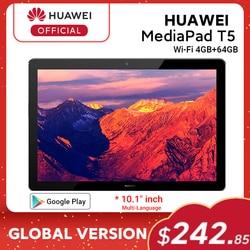 RUB 10000-1200 CODE:ALIPLUS1200,Глобальная версия HUAWEI MediaPad T5 4 Гб 64 Гб планшетный ПК 10,1 дюймов Восьмиядерный двойной динамик 5100 мАч Поддержка microSD карты ...