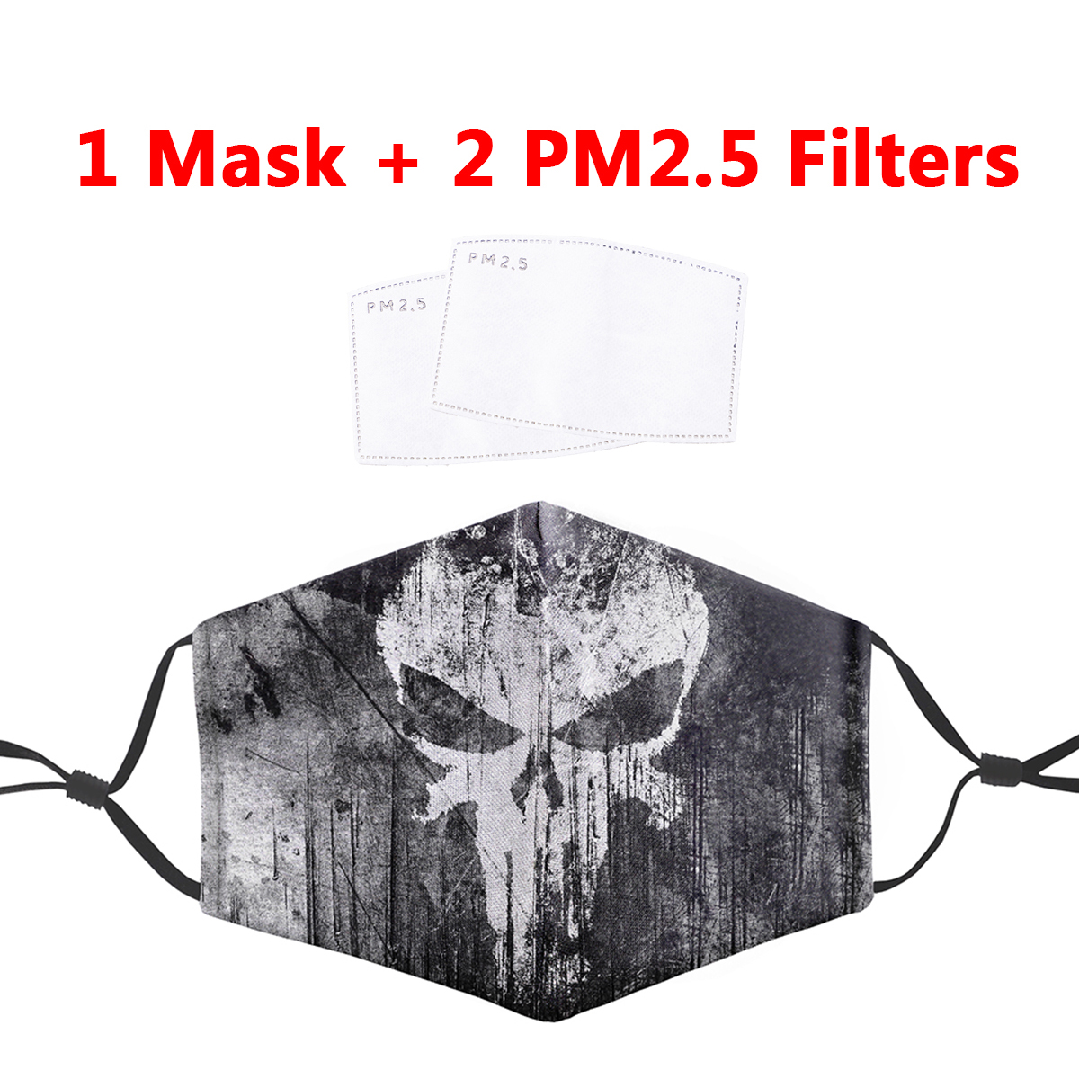 PM2.5 Filter Mouth-Muffle Mask Skull Punisher Printing Anti Dust Face Masks Bacteria Proof Flu Mask Reusable Protective Masks