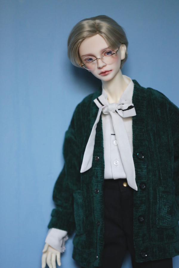 BJD Doll Clothes For 1/3 1/4 MSD Uncle Size Frosted Cardigan With Pocket Coat 4 Colors Into Doll Accessories