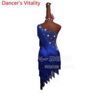 Latin Dance Dress Women Girls Fringe Style Cha Cha Salsa Samba Tango Competition Costume Tassel Dance Performance Stage Wear