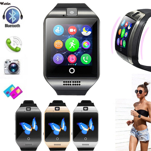 Q18 Bluetooth Smart Watch With Cam Twitter Facebook Whatsapp Sync Sports Smartwatch Support SIM Card For IOS Android PK U8 DZ09