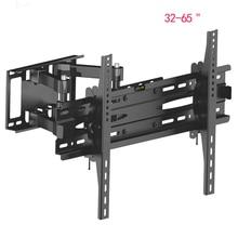 LVDIBAO Universal 6 ARMS Full Motion TV Wall Mount Free Adjustable Tilt Swivel Angle TV Bracket Fit for Most 32