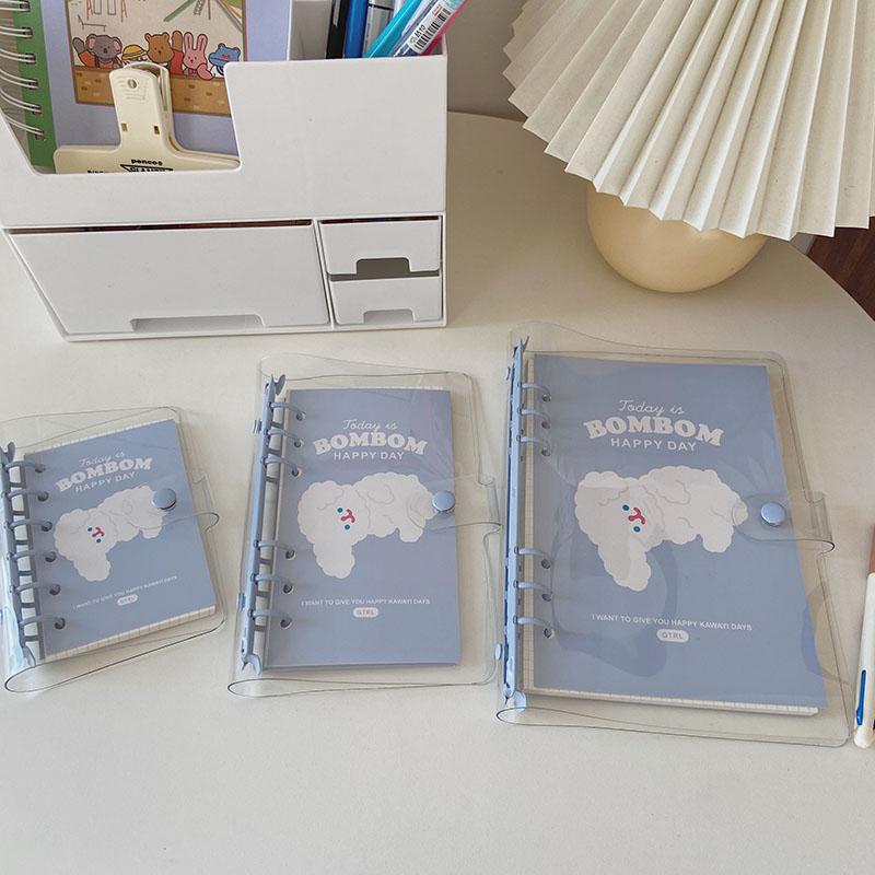 Новое поступление, блокнот MINKYS A7, A6, A5, 90 листов, синий блокнот, дневник, журнал, ежедневник, планировщик, цилиндрическая книга, подарок, школь...