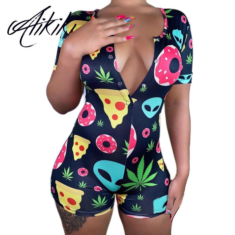 Sexy Women Onsies Pijamas Plus Size Sleepwear Pyjamas Nightwear Jumpsuit Pajamas Onesie For Adults Short Romper Bodycon Summer