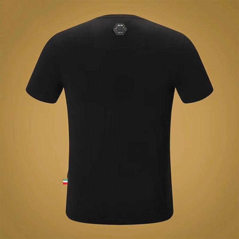 Starbags pp manches T shirt populaire pour les hommes en or estampage impression de rue en vrac simple décontracté demi manches T shirt - 2