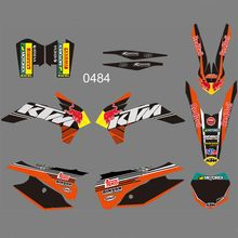Bull Full Graphics Decals Stickers Custom Number Name Glossy Stickers FOR KTM 125 150 200 250 300 350 450F SX XC 2013 2014 new style team graphics with matching backgrounds decals stickers for ktm exc 125 200 250 300 350 450 500 2012 2013 xc 2011