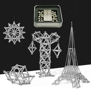 63-189pcs Magnetic Building Bl
