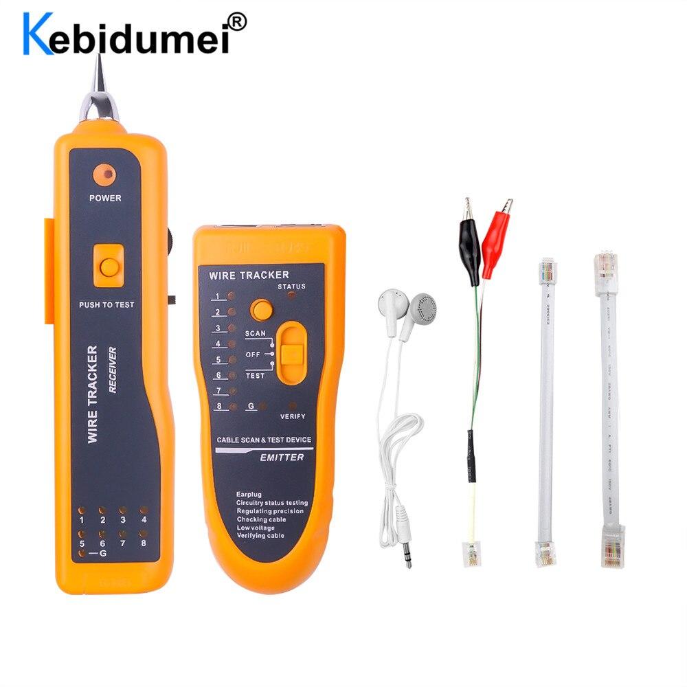 Тестер кабеля локальной сети Cat5 Cat6 RJ45 UTP STP, детектор, линейный детектор, трекер телефонного провода, трассировщик, диагностика тона, набор ин...