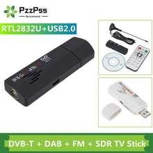 PzzPss Digital USB TV FM+DAB DVB-T RTL2832U+R820T Support SDR Tuner Receiver & DVB-T HDTV TV Stick Dongle With Receiver Antenna
