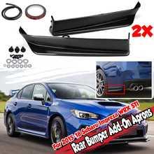 2x автомобильные фартуки для заднего бампера из углеродного волокна, разветвители, диффузор, протектор для Subaru Impreza WRX STI 2015-2019