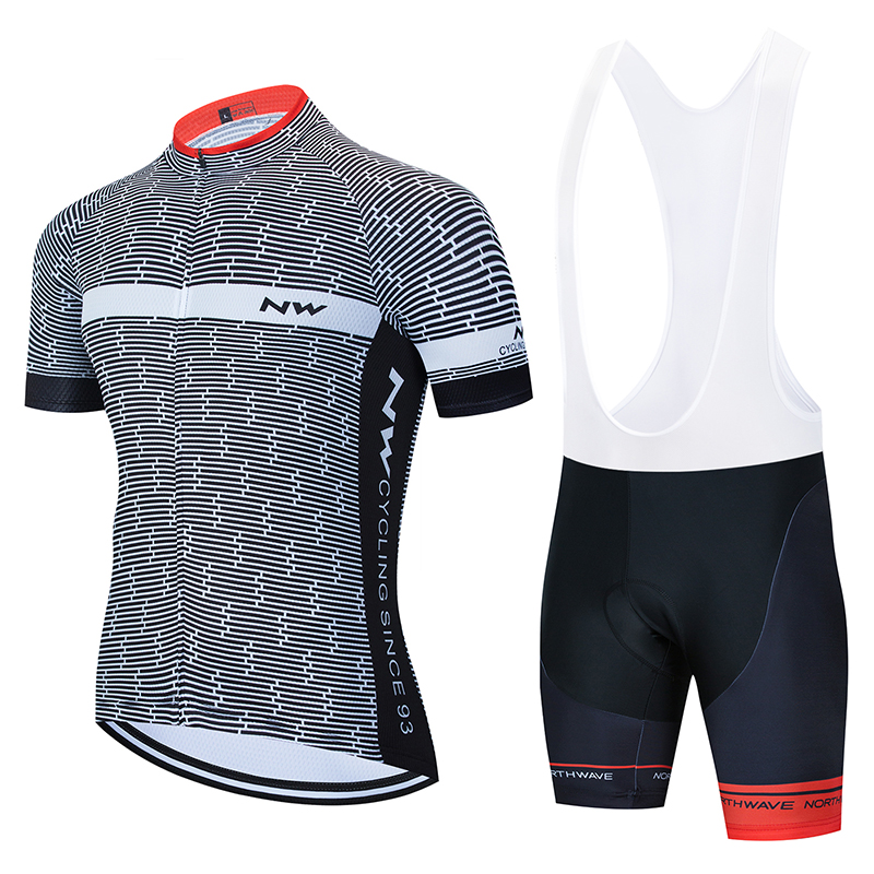 NW 2020 Summer Cycling Jersey Short Sleeve Set Bike Bicycle Clothing ropa Ciclismo uniformes Cycle Clothes Maillot Bib Shorts #7|Cycling Sets| |  - title=