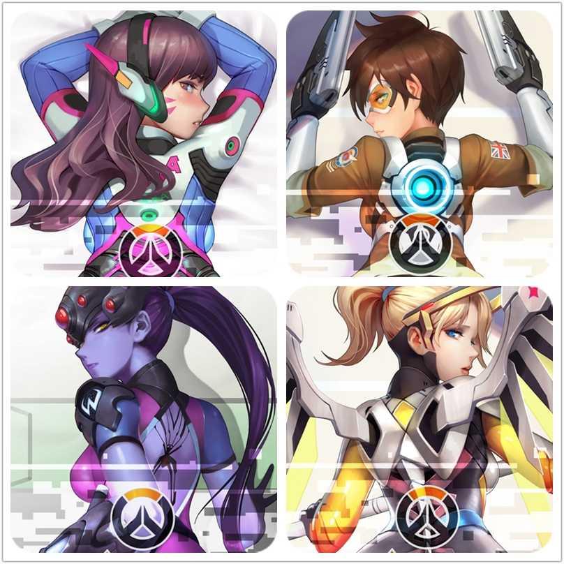Anime JK Hot Game D.Va hana Song Girl Dakimakura Cosplay