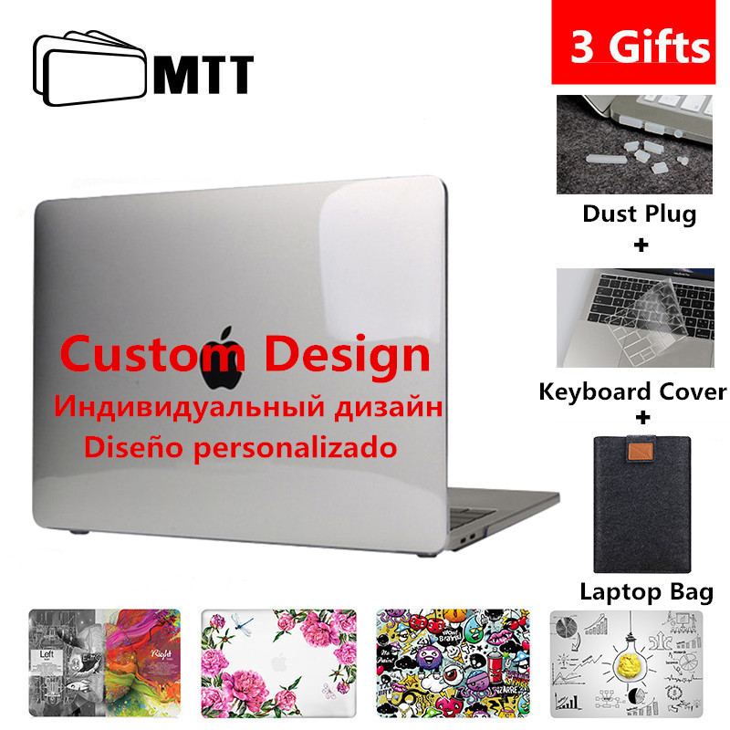 MTT Custom Design Case For Macbook Air Pro Retina 11 12 13 15 16 Inch Touch Bar Cover For Mac Book Pro 13.3'' Laptop Bag Sleeve