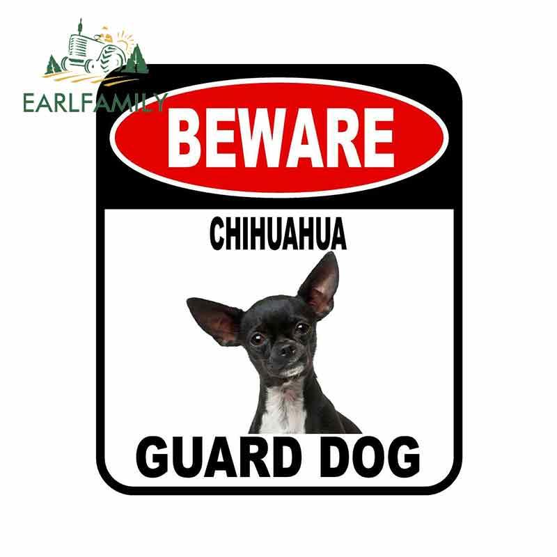 Earlfamily 13cm X 11cm Beware Chihuahua