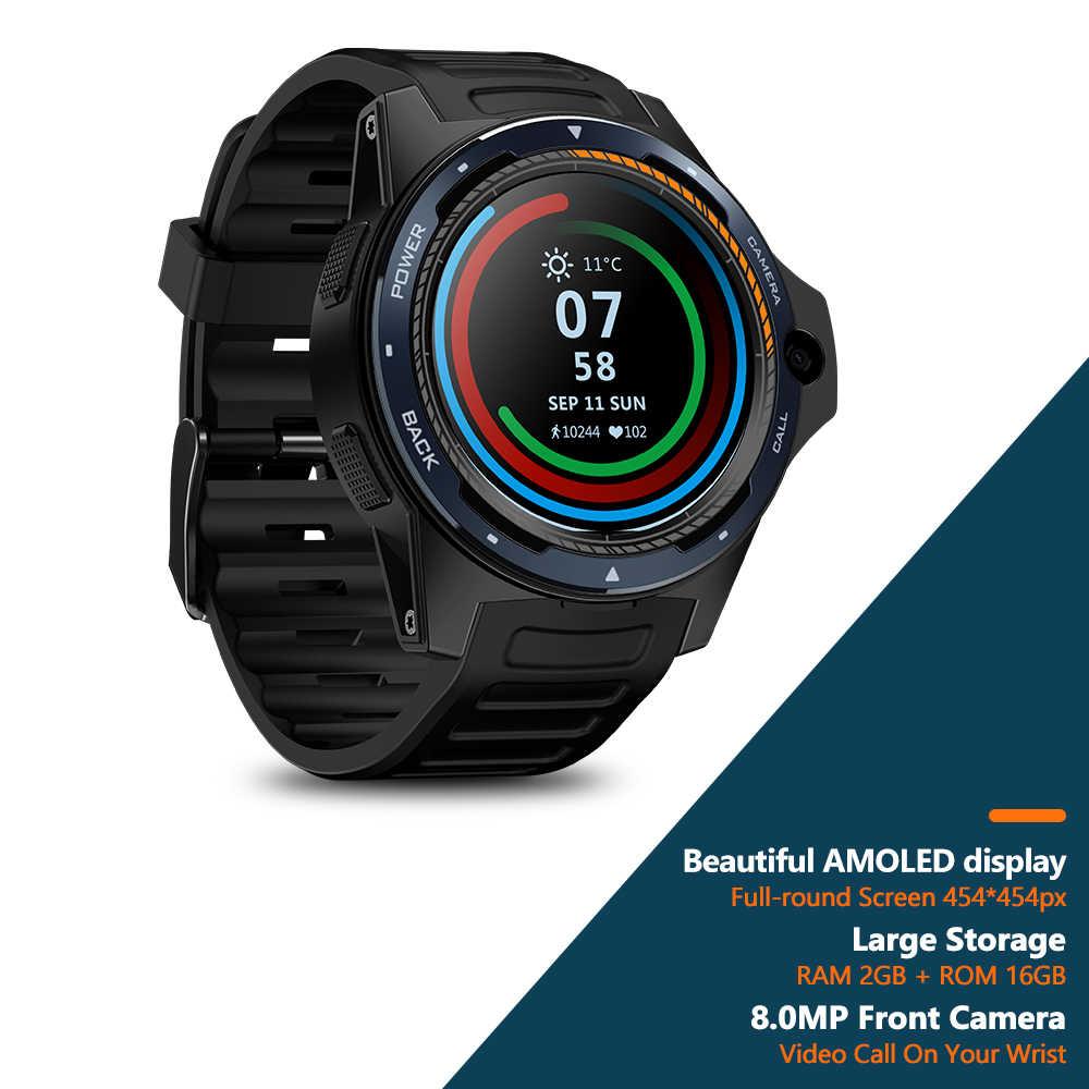 Zeblaze THOR 5 double système hybride 4G Smartwatch 1.39 pouces AOMLED 454*454p x 2GB + 16GB 8.0MP caméra frontale montre intelligente hommes