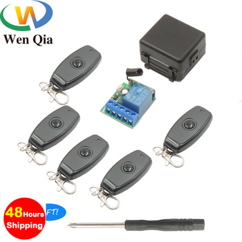 цена на 433Mhz Universal RF Wireless Remote Control Switch ON/OFF Transmitter DC 12V1CH Relay Receiver Module For Access control system