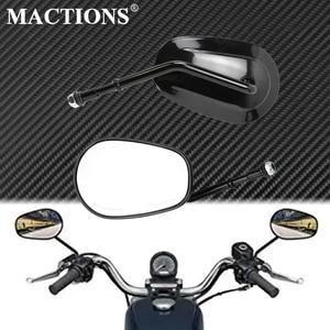 Motocykl lusterko wsteczne boczne czarne dla Harley Sportster XL 1200 XL883 Bobber Chopper Touring Road King przemieszczanie się po ulicy Softail