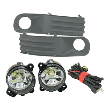 DWCX 2Pcs Front Bumper Driving Fog Light &Harness Grille Wiring Car Fit for VW Transporter T5 2003-2005 2006 2007 2008 2009 2010