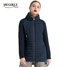 MIEGOFCE 2019 Spring And Autumn Women's Coat with Stand Collar Short Coat Women's Thin Windproof Knitted Sleeve Warm Jacket(China)