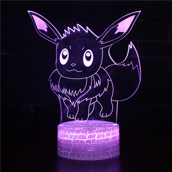 цена на Pokemon Gift Light Mew Mewtwo 3d led Night Light Color Changing Lamp Pokemon Go Action Figure Visual Led Holiday Gifts Lamp