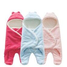 Saco de dormir do bebê 68*80cm coral velo bebê swaddle cobertor inverno footmuff saco bebe cochecito dormir saco de couchage enfant