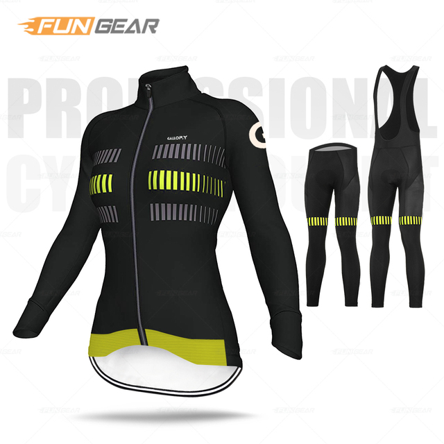 Mulheres roupas de ciclismo manga longa conjunto camisa respirável senhora estrada bicicleta uniforme primavera outono mtb ciclo roupas secagem rápida anti-uv 3