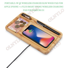 Wooden Qi Wireless Charger Pad for iPhone XS Max XR X for Xiaomi mi 9  Smart fast Charging for Samsung S10 Huawei Mate 20 pro