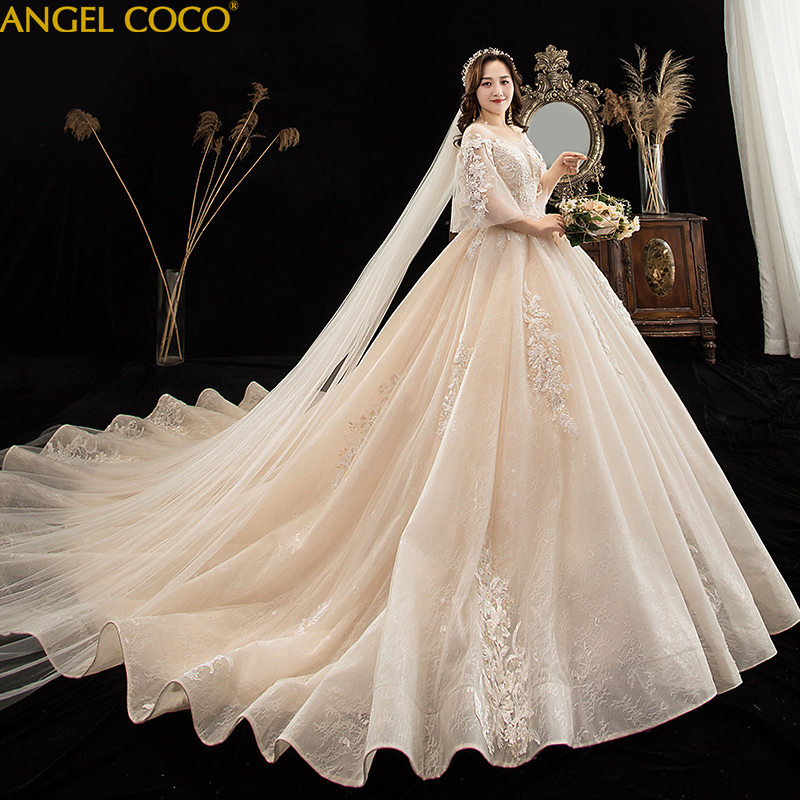 Maternity wedding dress Plus size pregnant fat bride Dress ...