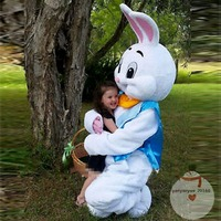 New Easter Bunny Rabbit Mascot Costume Suits Cosplay Party Game Dress Outfits Clothing Advertising Carnival Halloween Christmas