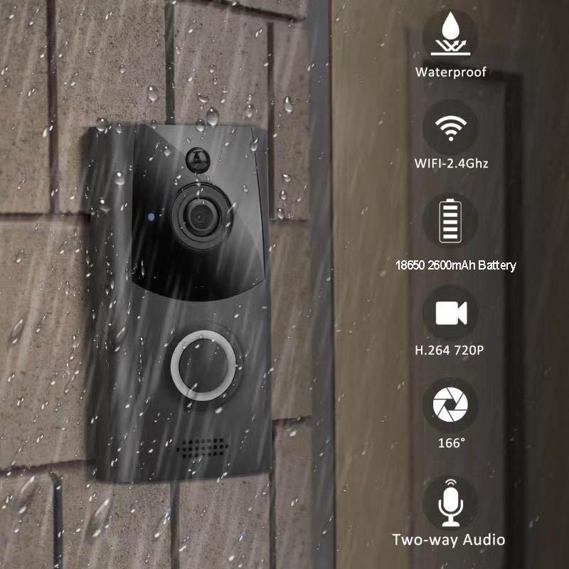 SNOSECURE Waterproof Video Call Wifi Doorbell Intercom Alarm For Home Wireless Video Door Phone For Apartment Battery Doorphone