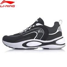 Li-ning men v8 almofada tênis de corrida ln nuvem lite retro respirável forro de apoio li ning esporte pai sapatos arhp093