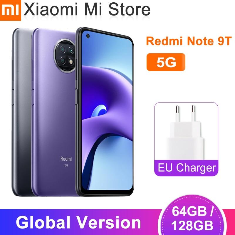 Глобальный мужчин отделениями Xiaomi Redmi Note 9T 5G смартфон 4GB оперативной памяти, 64 Гб встроенной памяти/128G ROM Dimensity 800U двойной 5G сим-картами 5000 мАч ...