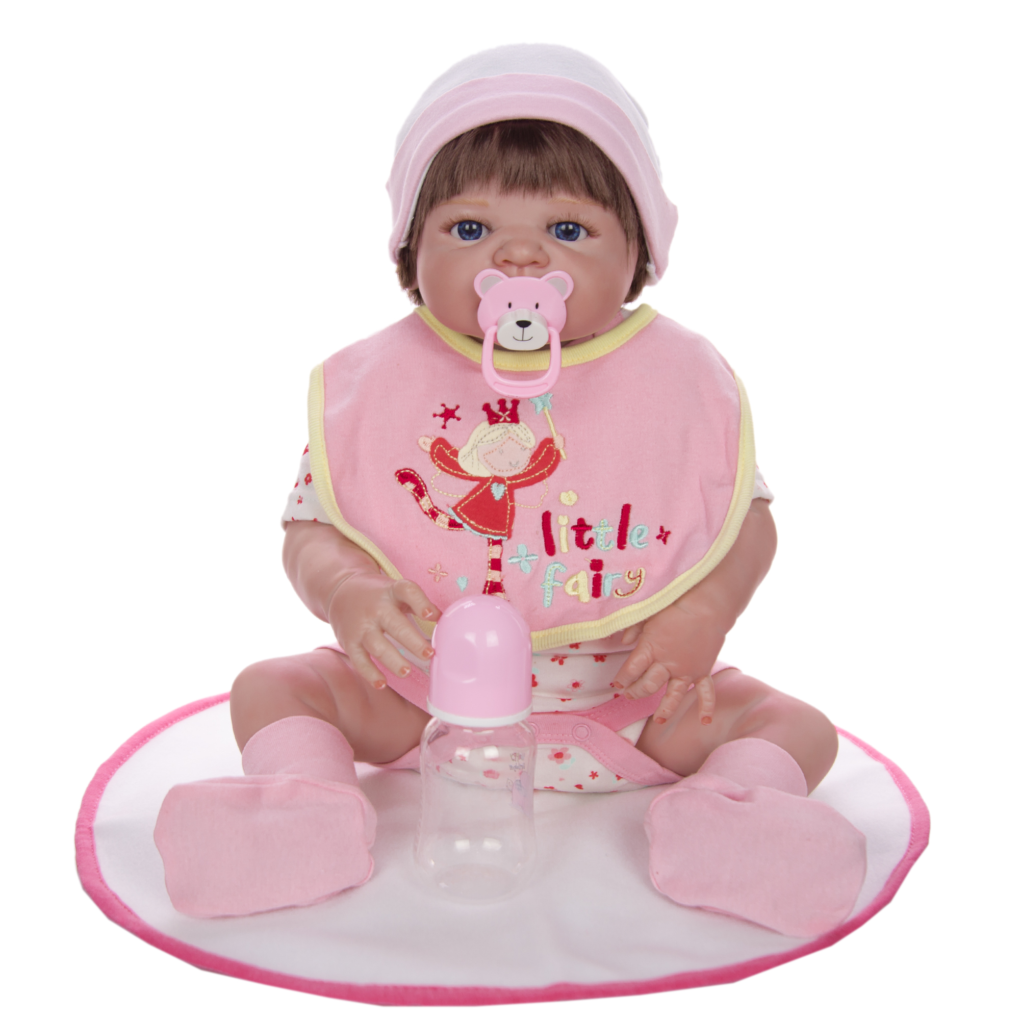 전신 실리콘 비닐 reborn 아기 소녀 인형 58 cm/23 inch 현실적인 살아있는 아기 장난감 크리스마스 선물-에서인형부터 완구 & 취미 의  그룹 3
