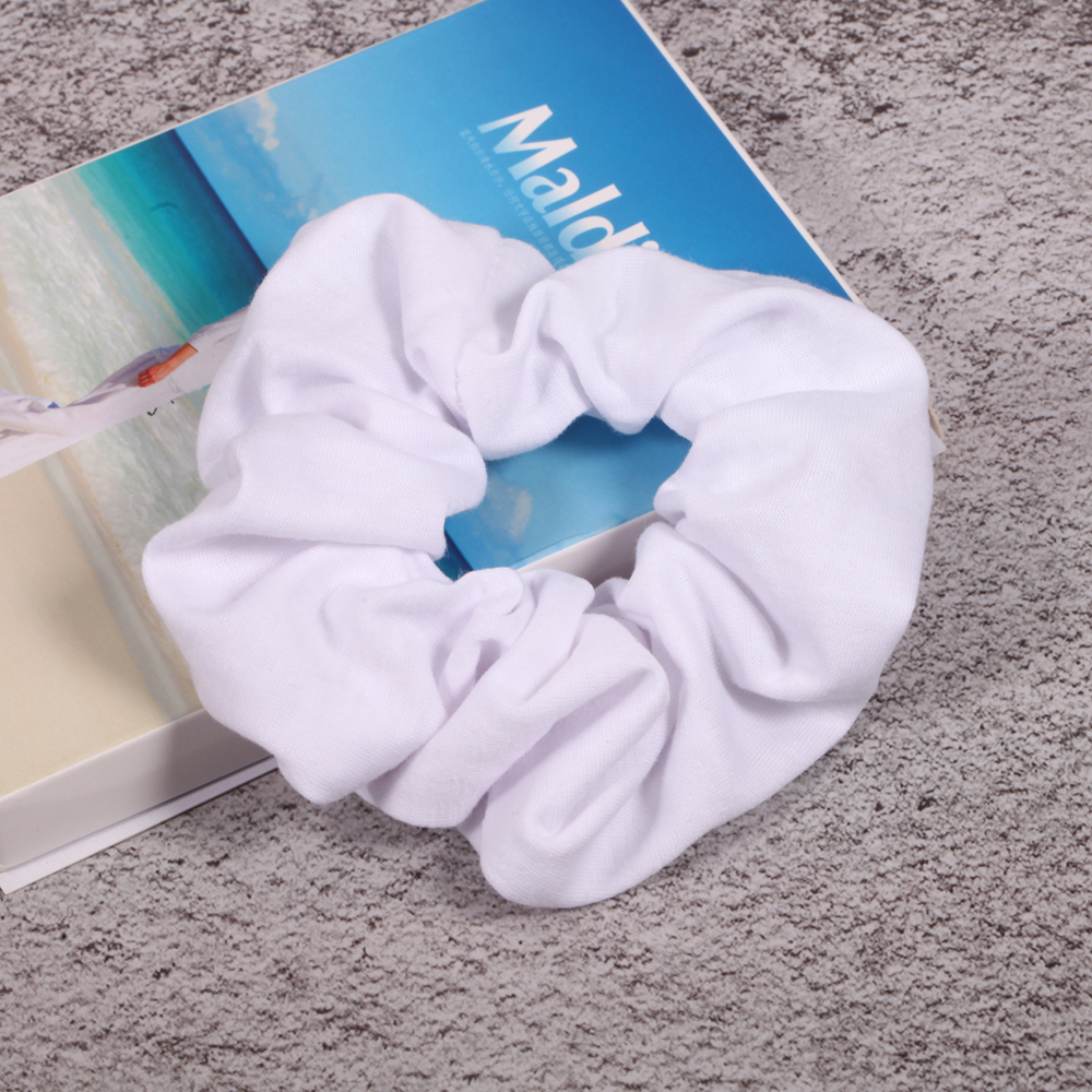 1Pc Pure White Color Hair Band Fabric HairBands Hair Scrunchies Girls Personality Hair Holder