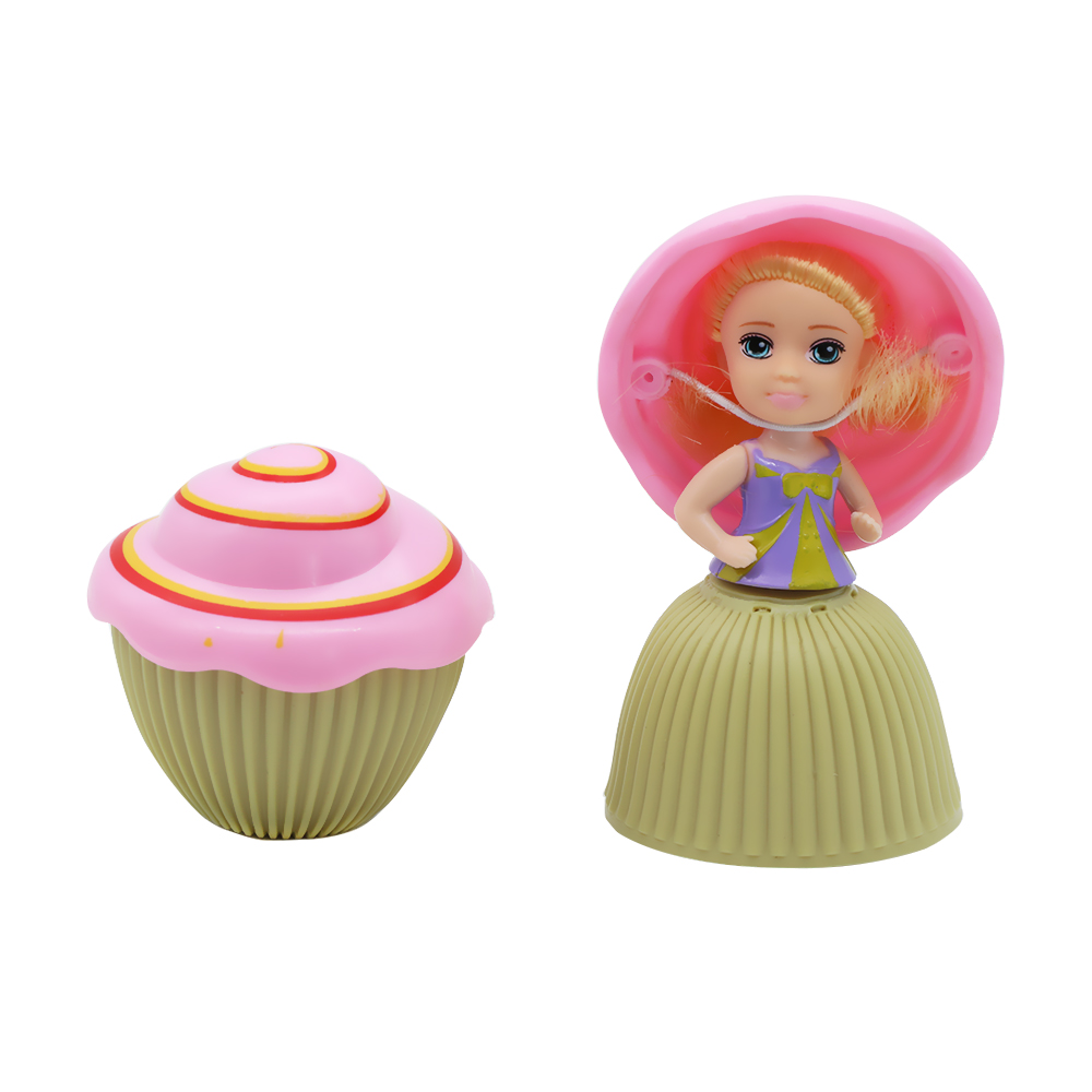 1Pc Lovely Scented Mini Cartoon Deformable Transformed Cupcake Princess Doll