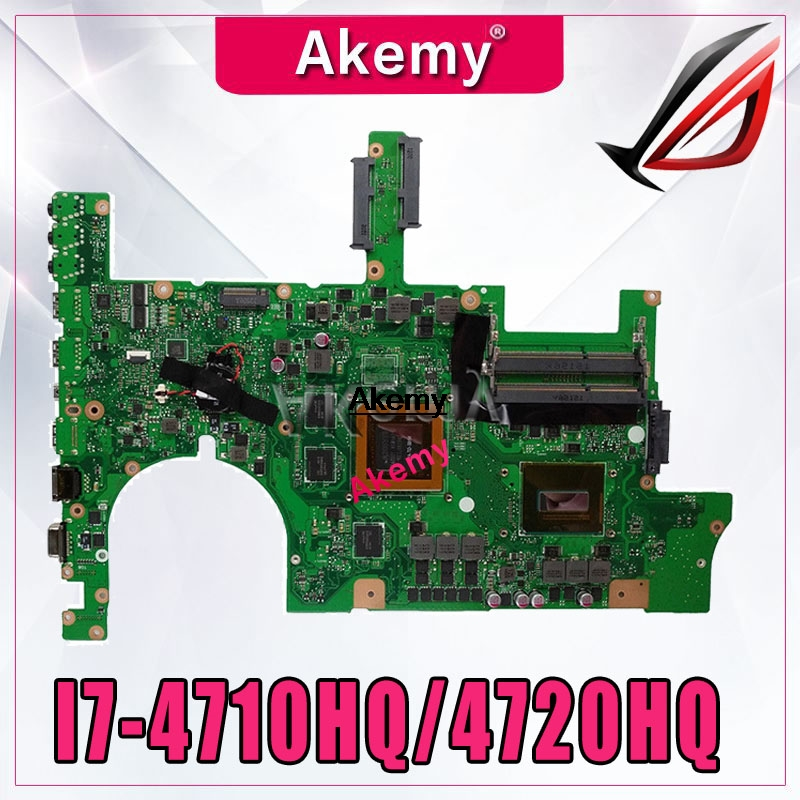 Akemy <font><b>ROG</b></font> G751JT Laptop motherboard For <font><b>Asus</b></font> G751JT <font><b>G751JY</b></font> G751JL G751J G751 Test original mainboard I7-4710HQ/4720HQ GTX970M image